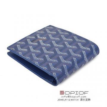 HOT大人気ブランドゴヤール 偽物 財布 二つ折り 名刺入れ ブルー 品質保証上品