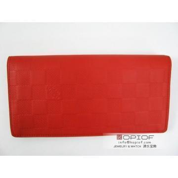 大注目!高級ルイヴィトン 財布コピーlouisvuitton ポルトフォイユチェック柄赤色2018お得安い